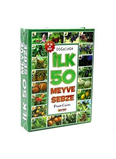 Bunjoy Flash Cards İlk 50 Meyve-Sebze (Diy-Toy Yayınları) Renkli